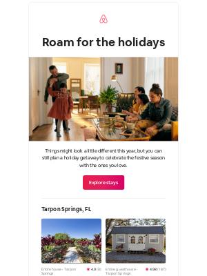 Airbnb - Linda, plan a cozy holiday getaway