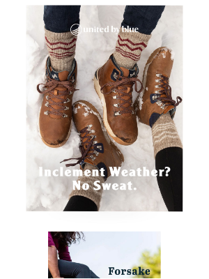 United By Blue - Shoes that stand up to snow and look good doing it