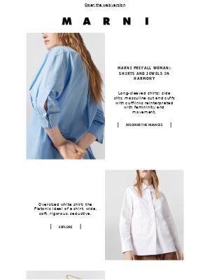 Marni Prefall Woman: shirts and jewels in harmony
