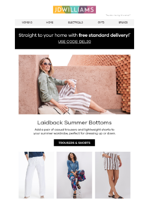 Your summer staple: laidback trousers & shorts