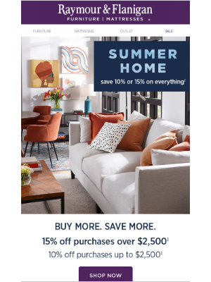 Raymour & Flanigan Furniture - Furnish a home fit for summer celebration.