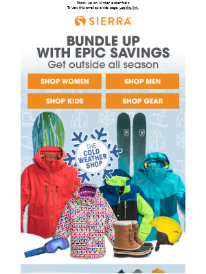 It's OPEN: The Cold Weather Shop
