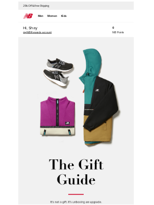 New Balance - This gift thing just got easy