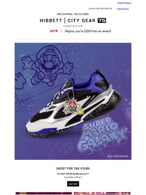 Hibbett Sports - Super Mario Galaxy from PUMA 🍄