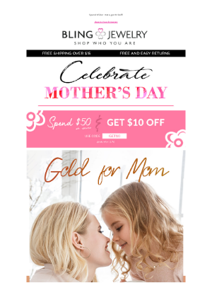 Bling Jewelry - Get Mom's Gift Yet? Go for the Gold