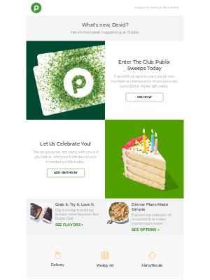 Publix Super Markets - Sweepstakes: Win up to $5K in gift cards