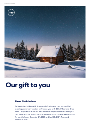 Lufthansa - Our holiday gift to you!