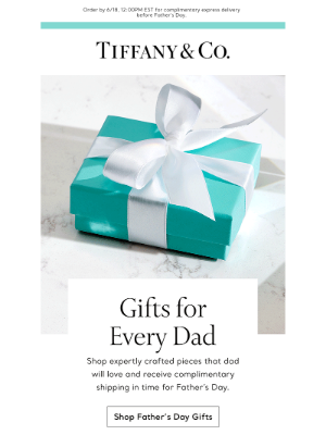 Tiffany & Co. - It's Time for Complimentary Shipping