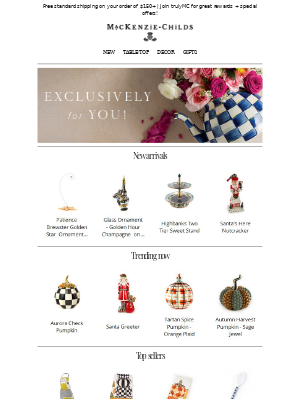 MacKenzie Childs LLC - Just for you: M-C top picks!