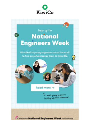 Kiwi Co. - Young engineers explain what inspires them to think BIG! + Take 20% off at the KiwiCo Store