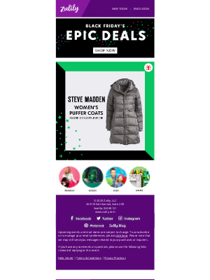 BLACK FRIDAY IS ON! Steve Madden puffers & MORE Deals