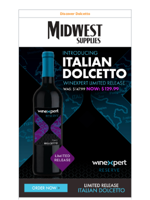 Midwest Supplies - Order the Newest Winexpert LE: Italian Dolcetto