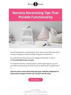 Bump Boxes - Functional Nursery Ideas