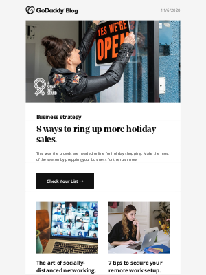 GoDaddy - Sell more for the holidays with these 8 tips.