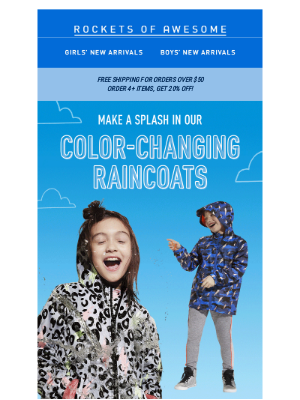 Color-changing raincoats are here! ⛈️