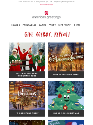 American Greetings - Brittany, end the year with lots of Christmas cheer!