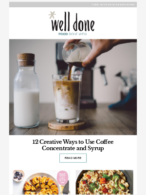 12 Creative Ways to Use Coffee Concentrate and Syrup