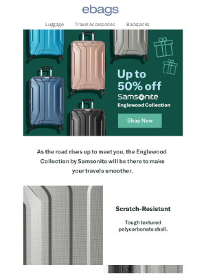 eBags - Samsonite Carry-On ONLY $59.99