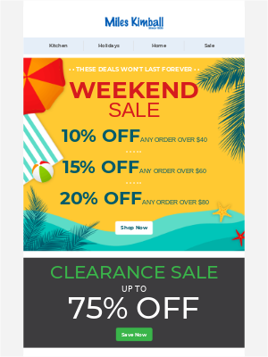 Sizzling Weekend Sale