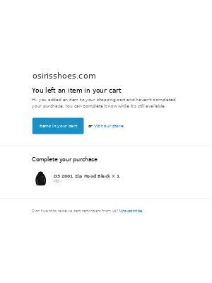 Osiris Shoes - Complete your Purchase