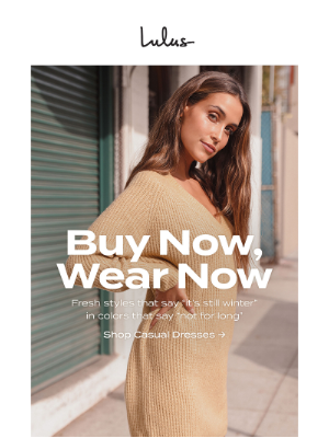 Lulus - Buy Now, Wear Now Faves!
