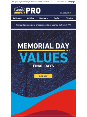 Final Days: Memorial Day Values