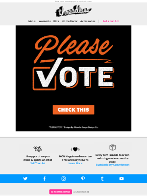 Threadless - Every vote DOES count.