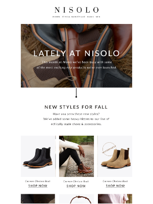 Nisolo - Look at all this newness…👀