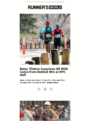 Belay Tilahun Surprises All With Come-from-Behind Win at NYC Half
