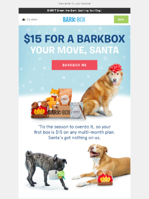 WIN CHRISTMAS for just $15