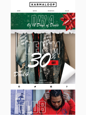 Day 4 of 12 Days of Deals 🎁  30% of Denim 👖