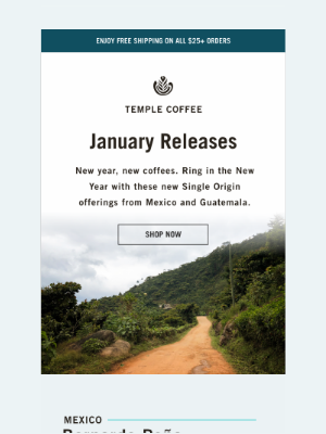 Temple Coffee Roasters - New year, NEW coffees. 🎉