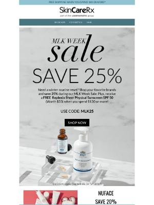 SkinCareRx - Our BIG 1 Week Sale Has Started! 💥