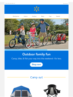 Walmart - Great prices on camping & more 🏕 🚲 🎣