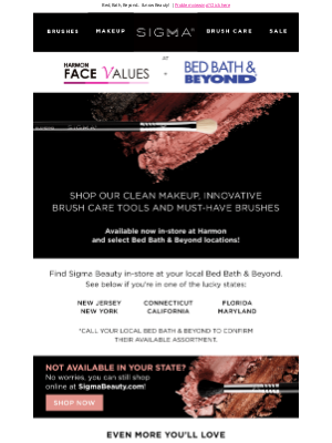 Sigma Beauty - Shop safely in-store