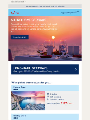 TUI (UK) - Treat yourself to an All Inclusive break