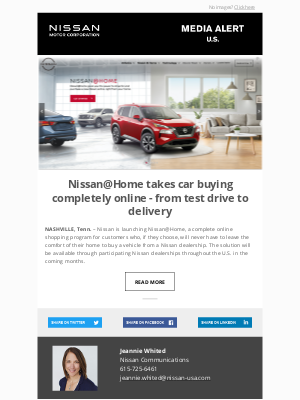 Nissan - Nissan@Home takes car buying completely online - from test drive to delivery