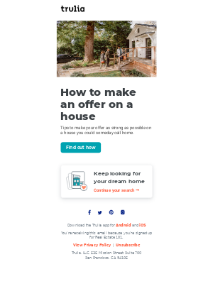 Trulia - How to make an offer on a house
