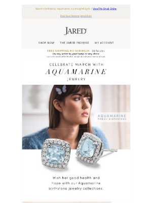 Celebrate March with birthstone jewelry gifting
