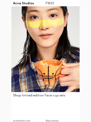 Acne Studios - New arrivals: Limited edition Face cup sets