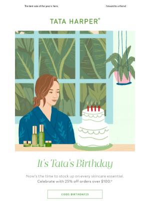 Tata Harper Skincare - Let the Celebration Begin | 25% OFF 🎉