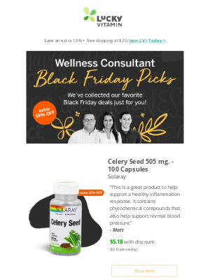 LuckyVitamin - Your Black Friday Deals Chosen by Experts