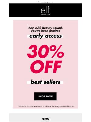 PERK ALERT: 30% off select beauty
