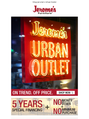Jerome's Furniture - On Trend. Off Price. 🔥