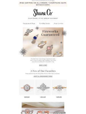 Shane Co. - The ultimate New Year's Eve sparkler