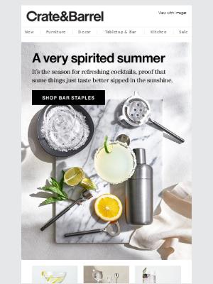Easy summer cocktails (just add sunshine)