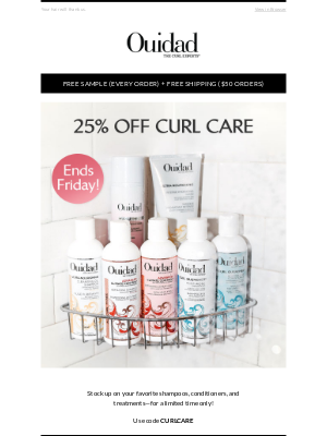 Ouidad - Still Time—25% Off Curl Care 🚿