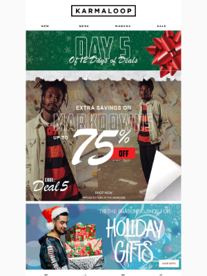 Day 5 of 12 Days of Deals 🎁 Up to 75% Off 100's of Items