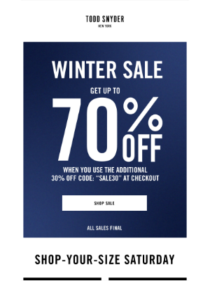 Todd Snyder - UP TO 70% OFF. SHOP YOUR SIZE.