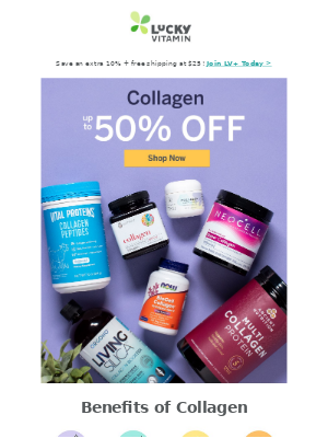 Replenish Collagen Levels with Up to 50% Off